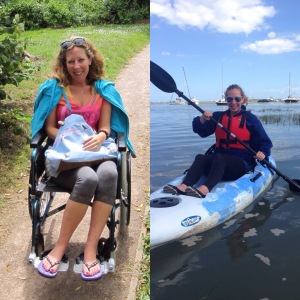 When I was really ill in 2013 unable to walk around and back in my kayak in 2015!